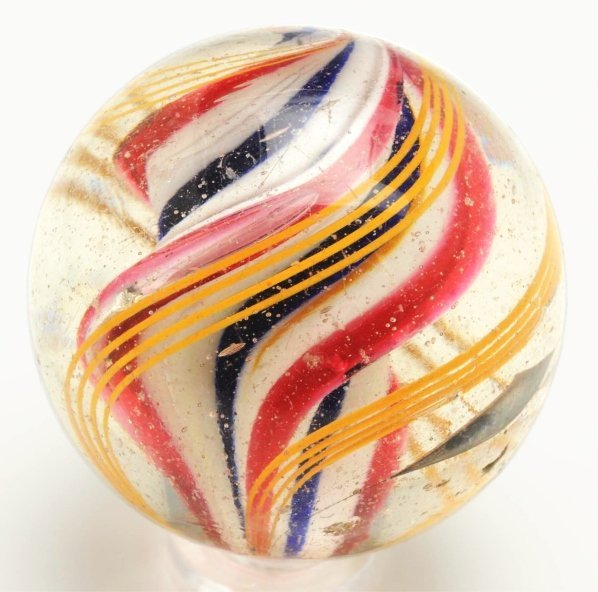 5: Large Ride Core Swirl Marble.