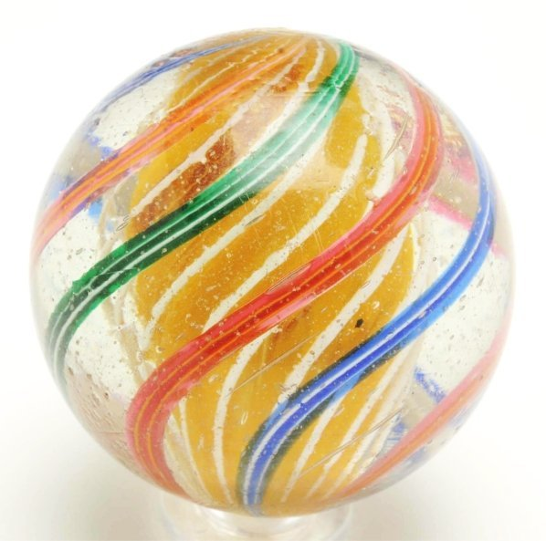 7: Large 3-Stage Solid Core Swirl Marble.
