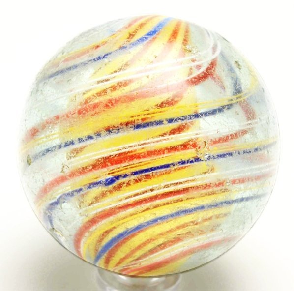 9: Large 3-Stage Solid Core Swirl Marble.