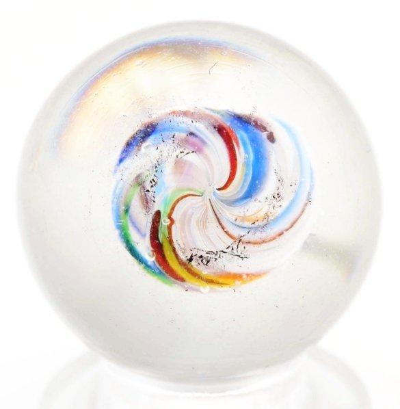 11: Unusual Latticino Swirl Marble. - 3