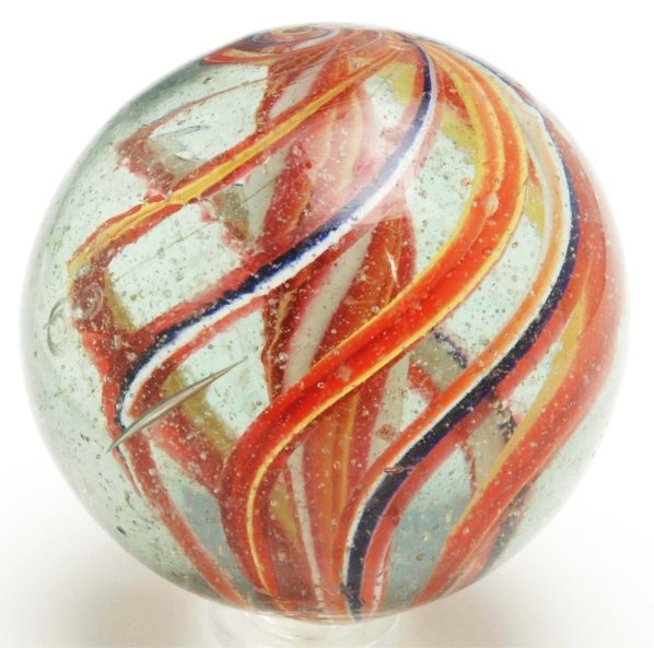 12: Large Solid Core Swirl Marble.