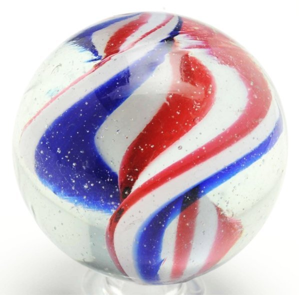 13: Large Peppermint Ribbon Marble.