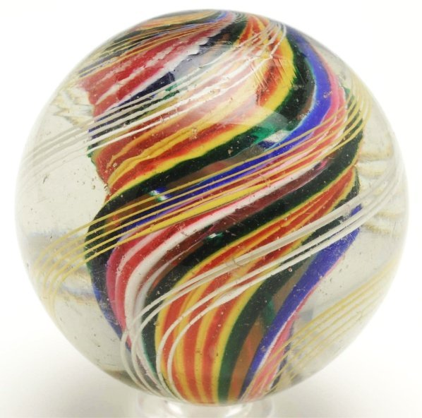 15: Large Ribbon Core Swirl Marble.
