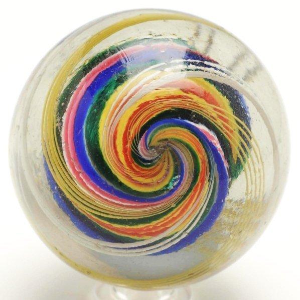 15: Large Ribbon Core Swirl Marble. - 3