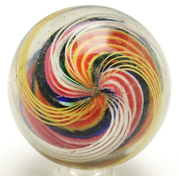 15: Large Ribbon Core Swirl Marble. - 4
