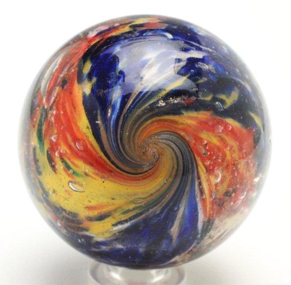 23: Shallow 2-Lobed & 4-Paneled Onionskin Marble. - 3
