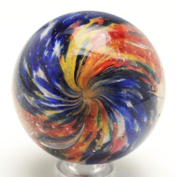 23: Shallow 2-Lobed & 4-Paneled Onionskin Marble. - 4