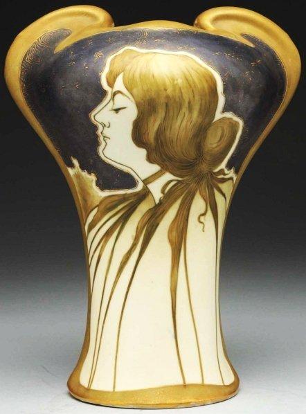 4: Amphora Ceramic Portrait Vase.