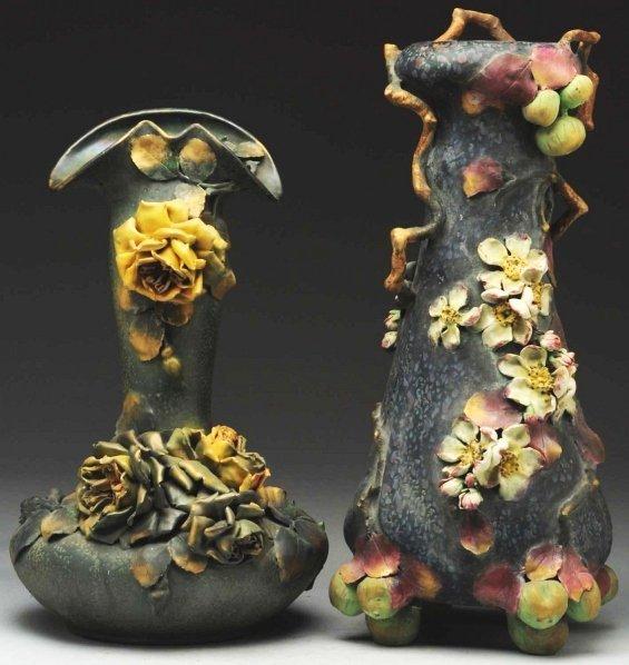 10: Lot of 2: Amphora Ceramic Vases.