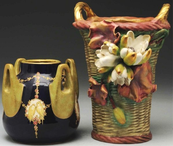 22: Lot of 2: Amphora Vases.