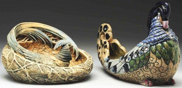 23: Lot of 2: Czech Amphora Vases.