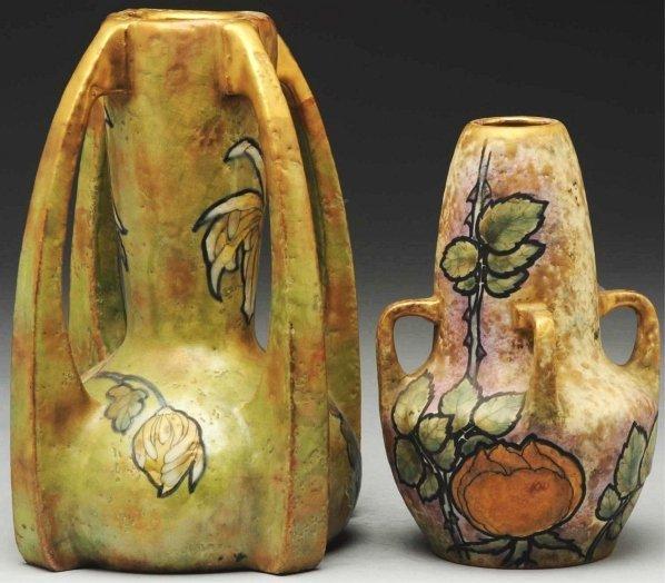 24: Lot of 2: Amphora Vases.