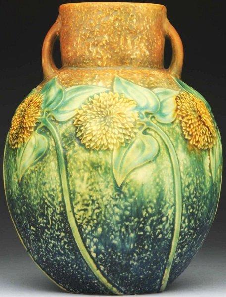 275: Roseville Sunflower Vase.