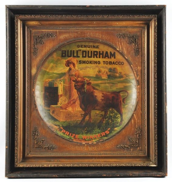 604: Early Bull Durham Tobacco Trade Sign.