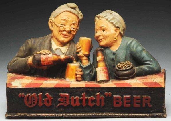 612: Composition Old Dutch Beer Display Piece.