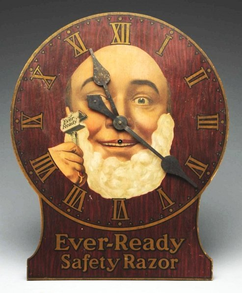 614: Ever Ready Safety Razor Clock.