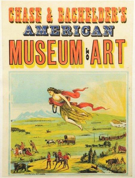 621: Chase & Bachelder's Museum of Art Poster.