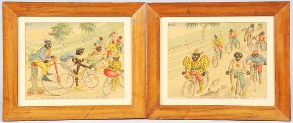 622: Lot of 4: Rochester Bicycle Advertising Prints.
