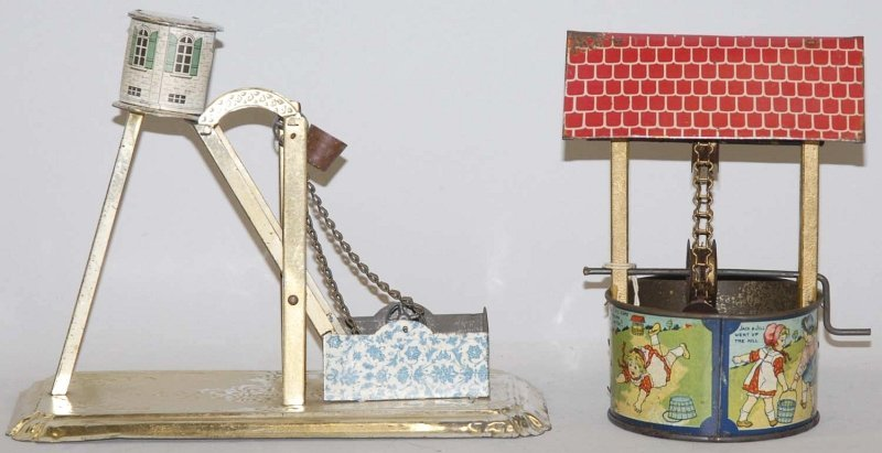 9: Lot of 2: Tin Litho Well-Type Toys.