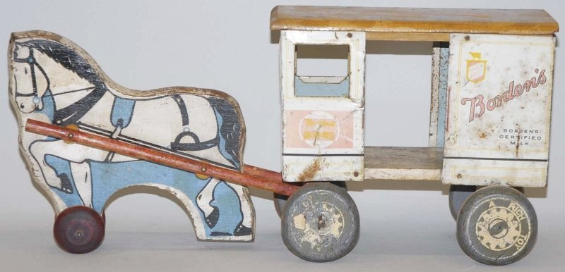 13: Rich Toys Borden's Horse-Drawn Wagon.