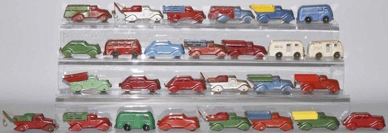 14: Lot of 27: Pressed Steel Vehicle Toys.