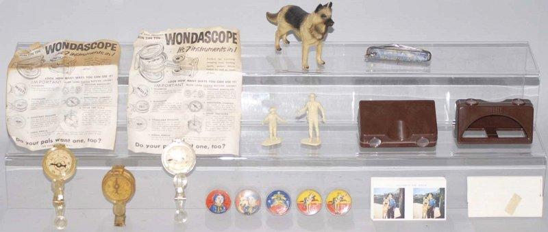 18: Lot of 12: Misc. Assorted Rin Tin Tin Toys.