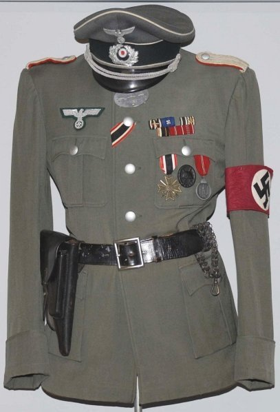94: German Nazi Uniform With Holster.