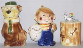 520: Lot of 3: Character Cookie Jars.