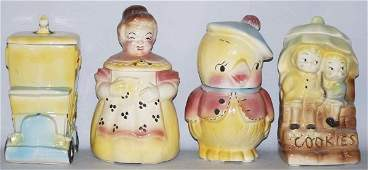 525: Lot of 4: American Bisque Cookie Jars.