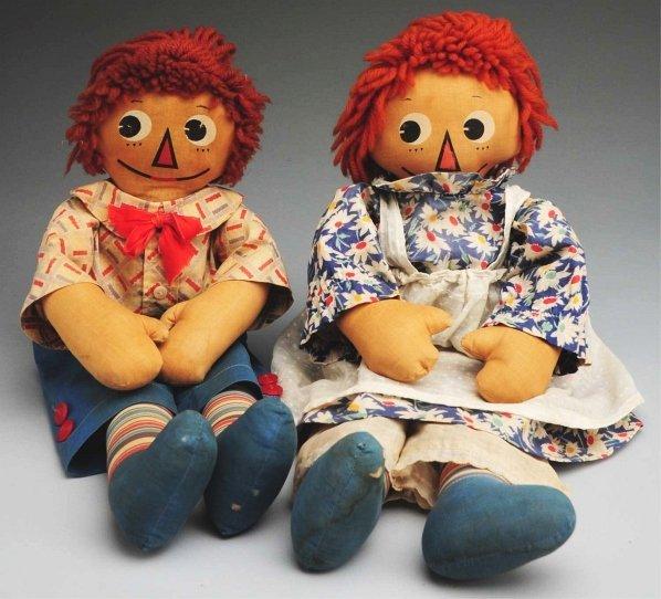 """5: Pair of Molly-'es """"Raggedy Ann & Andy"""" Dolls."""