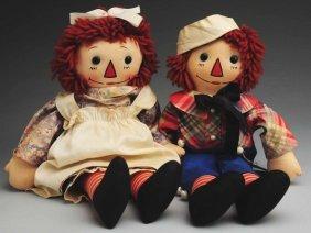 "6: Pair of ""Raggedy Ann & Andy"" Dolls."