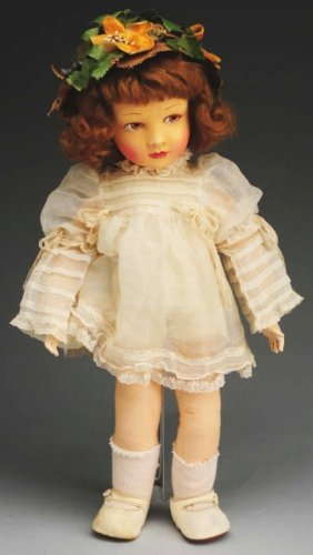 Lovely French Cloth Child Doll.