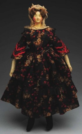 Remarkable German Papier-M�ch� Doll.