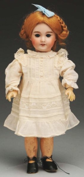 """20: Sweet French Bisque """"Bleuette"""" Doll."""