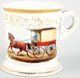 Horse-Drawn Wagon Shaving Mug.
