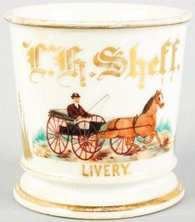 4: Horse-Drawn Carriage Shaving Mug.