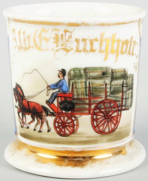 5: Horse-Drawn Delivery Wagon Shaving Mug.