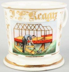9: Carpenter's Shaving Mug.