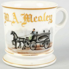 12: Horse-Drawn Hearse Shaving Mug.