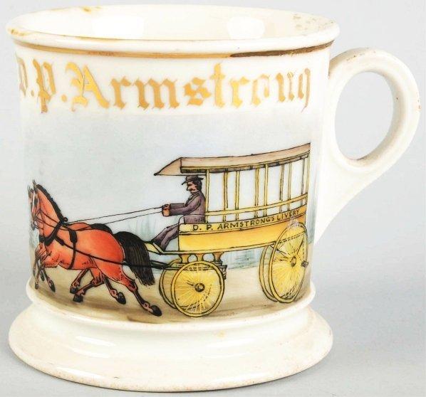 14: Horse-Drawn Livery Wagon Shaving Mug.