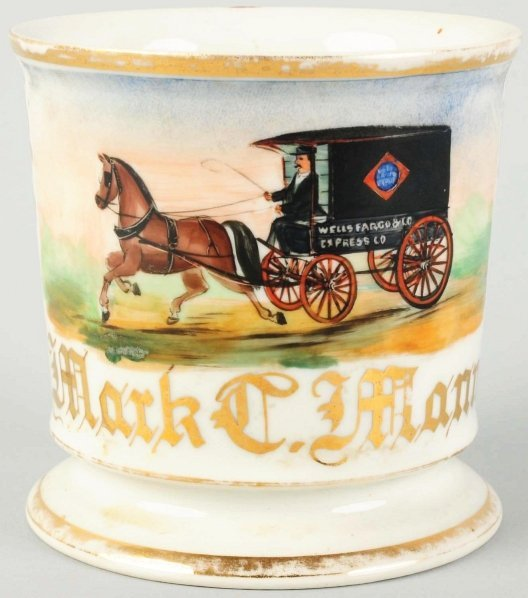23: Mark Mann Wells Fargo Wagon Shaving Mug.
