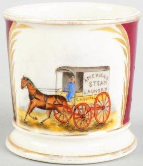 24: Horse-drawn Laundry Wagon Shaving Mug.
