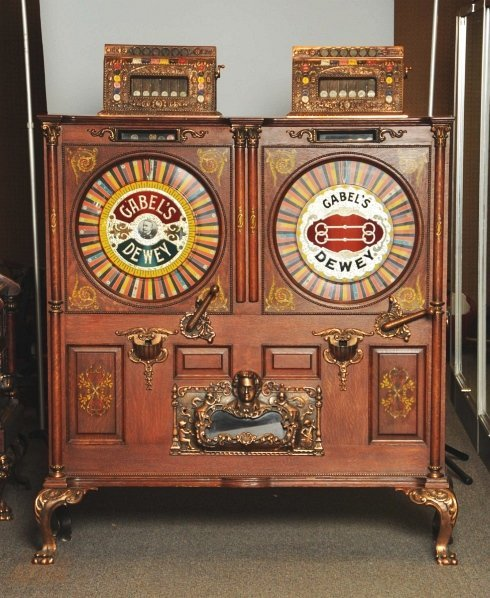 153: Gabel's Double Dewey 5¢ & 25¢ Upright Slot Machine