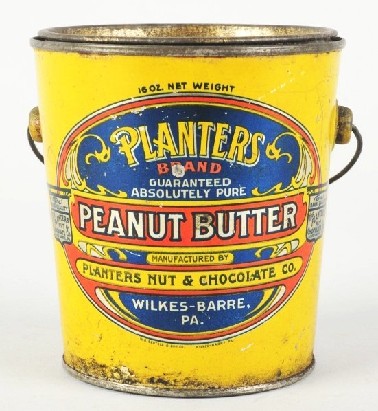 370: Planters Peanut Butter Tin Litho One Pound Pail.