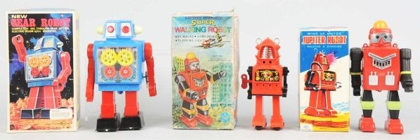 1012: Lot of 3: Robot Toys.