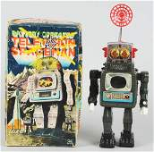 1047 Tin Litho BatteryOperated Television Spaceman