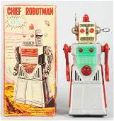 1049 Tin Litho BatteryOperated Chief Robot Man