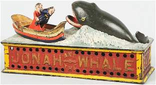 1178 Jonah  The Whale Mechanical Bank