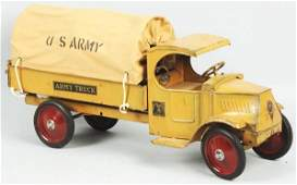 1873 Pressed Steel Steelcraft US Army Truck Toy