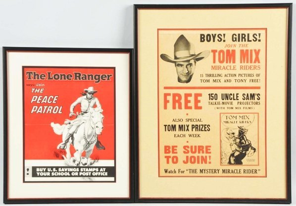 1910: Tom Mix & Lone Ranger Posters.